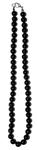 Бусы из черного агата (круг. 8мм)