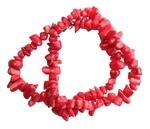 Бусы из коралла (камешки, 7-10 мм)