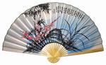 "Складной веер ""Сакура и бамбук"" (гигант)"