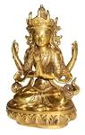 Четырехрукая Гуань Инь (бронза)