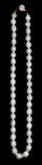 Бусы из белого жемчуга (овал. 9мм)