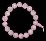 Браслет-четки из стекла (розовый кварц)
