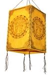 """Фонарик из рисовой бумаги """"Следы Будды"""" (желт.)"""