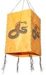 """Фонарик из рисовой бумаги """"Змея"""" (желт.)"""