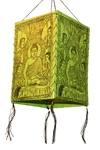 "Фонарик из рисовой бумаги ""Будда"" (зел.)"