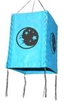 """Фонарик из рисовой бумаги """"Месяц и звезды"""" (голуб.)"""