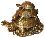 """Черепаха """"Три поколения"""" (бронза)"""
