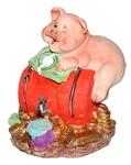 Веселая свинка с бочонком