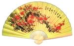 """Складной веер """"Сакура"""" (гигант, желт.)"""