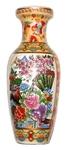 """Китайская фарфоровая ваза """"Пионы"""" (30 см)"""