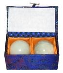 Китайские шарики здоровья из нефрита 4,5 см