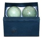 Китайские шарики здоровья из нефрита 5.5 см