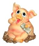 Веселая свинка с деньгами