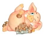 """Веселая свинка """"Хранитель денег"""""""