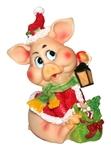 Новогодняя свинка с фонариком