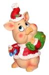 Новогодняя свинка с мешком