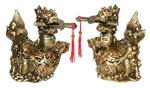 Два дракона с мечами