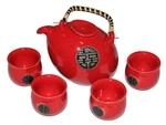 Набор для японской чайной церемонии (красный)