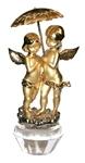 Влюбленные Ангелочки с зонтиком (золото)