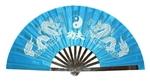 "Веер для Тай-Цзи ""Два дракона"" (голубой)"