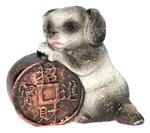 Собака с монетой счастья (цветная)