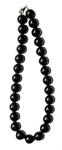 Бусы из черного агата (круг. 15мм)