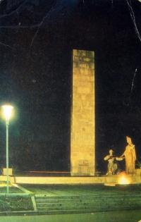 статуя, фонарь, небо, стелла