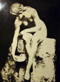 статуя, женщина, скала