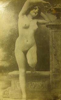 женщина, ваза