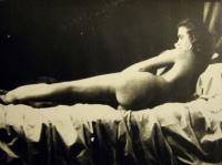 женщина, кровать