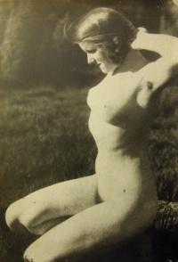 женщина, трава, тень