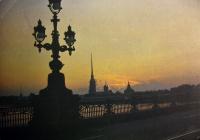 фонарь, мост, вода, здание, небо, облако