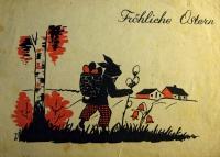 заяц, дерево, трава, дом, корзина, береза