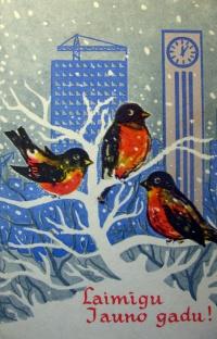 птица, здание, часы, подъемный кран, веточка, снег