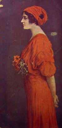 человек, женщина, цветок