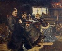 человек, стул, подсвечник, мужчина, девочка, окно, стол, свеча, книга
