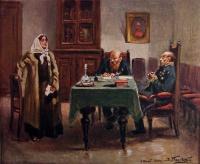 человек, стол, мужчина, женщина, стул, картина, шкаф, книга