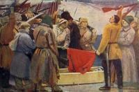 человек, гроб, флаг, оружие, мужчина