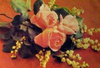 цветок, роза, листок, ландыш, букет