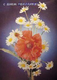 цветок, мак, букет, ромашка, листок