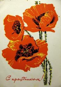 цветок, мак, букет