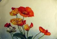 цветок, мак, листок, букет