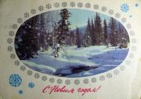 дерево, снег, небо, ель, гора
