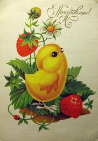 цветок, цыпленок, ягода, листок, букашка
